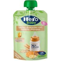 8 Cereales con plátano-galleta HERO, doypack 100 g