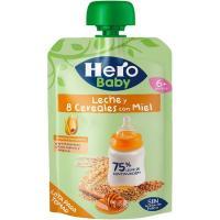 Bolsita de 8 cereales con miel HERO Baby, doypack 100 g