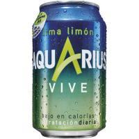 Bebida isotónica de lima-limón AQUARIUS Vive, lata 33 cl