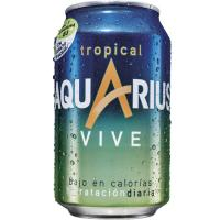 Bebida isotónica tropical AQUARIUS Vive, lata 33 cl