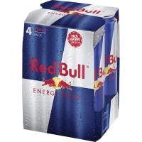 Bebida energetica regular RED BULL, pack 4x35,5 cl