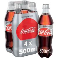 Refresco de cola light COCA COLA, pack 4x50 cl