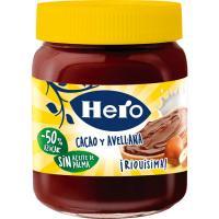 Crema de cacao-avellanas HERO, frasco 250 g