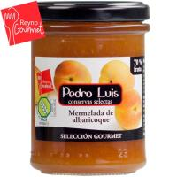 Mermelada de albaricoque PEDRO LUIS Gourmet, frasco 220 g