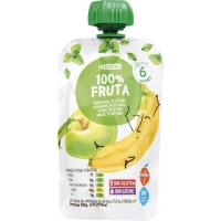 Bolsita de fruta-manzana-plátano EROSKI, doypack 100 g