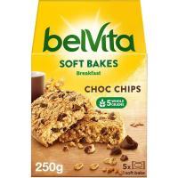 Galleta Belvita tierna con chocolate FONTANEDA, caja 250 g