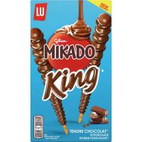 Mikado king de chocolate con leche LU, caja 51 g