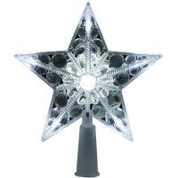 Estrella de Navidad, punta de árbol con luz led color blanca