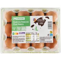 Huevos L Baleares EROSKI, cartón 1 docena