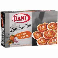 Zamburiñas en salsa de vieiras DANI, lata 106 g
