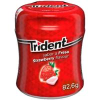 Chicle de fresa Lc TRIDENT, bote 82,6 g