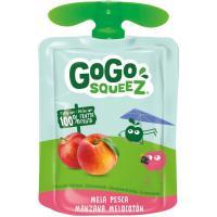 Fruta triturada manzana-melocotón 100% GOGO SQUEEZ, doypack 90 g