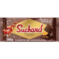 Turrón chocolate negro naranja SUCHARD, tableta 260 g