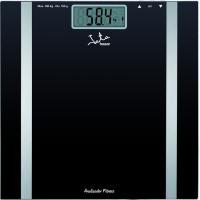 Báscula de baño analizador Fitness negra de aluminio, 2 pilas AAA 1,5V no incluídas JATA