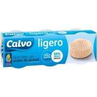 Atún claro ligero en aceite de girasol CALVO, pack 3x60 g