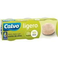Atún claro ligero en aceite de oliva CALVO, pack 3x60 g