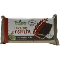 Tortitas de espelta con choco negro bio B. ORGANIC, paquete 90 g