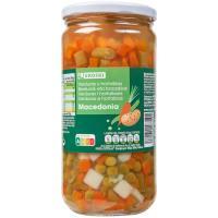 Macedonia de verduras EROSKI, frasco 400 g