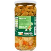 Mezcla de verduras EROSKI, frasco 425 g