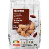 Almendras tostadas con piel EROSKI, bolsa 175 g