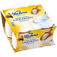 Yogur natural azucarado enriquecido LA LECHERA, pack 4x125 g