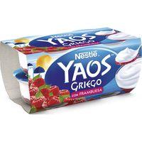 Yogur griego de frambuesa NESTLÉ, pack 4x120 g