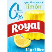 Gelatina de limón 0% azúcares ROYAL, caja 31 g