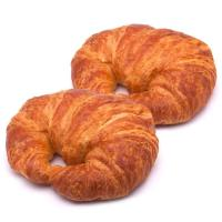 Croissant curvo de mantequilla EROSKI, bandeja 3 uds