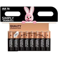 Pila alcalina Simply LR06 (AA) DURACELL, pack 16uds