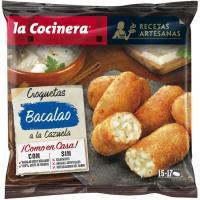 Croquetas de cazuela de bacalao LA COCINERA, bolsa 500 g