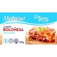 Lasaña de carne sin gluten MAHESO, caja 525 g
