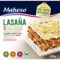 Lasaña integral MAHESO, caja 300 g