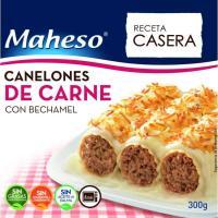 Canelones de carne con bechamel MAHESO, caja 300 g