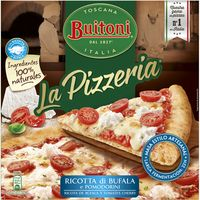 Pizza Ricotta Bufala Pomodorini BUITONI, caja 365 g