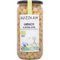 Garbanzo natural ecológico AUZOLAN, frasco 540 g