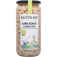 Alubias blancas naturales ecológicas AUZOLAN, frasco 425 g