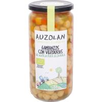 Garbanzos con verduras ecológicas AUZOLAN, frasco 450 g