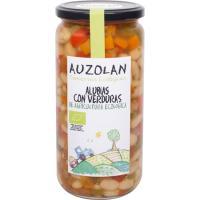 Alubias con verduras ecológicas AUZOLAN, frasco 600 g