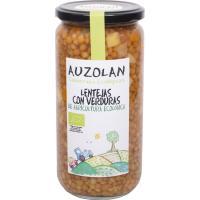 Lentejas con verduras ecológicas AUZOLAN, frasco 625 g