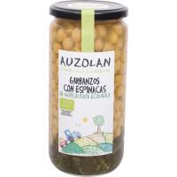 Garbanzos con espinacas ecológicas AUZOLAN, frasco 500 g