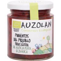 Pimientos del piquillo ecológicos en tiras AUZOLAN, frasco 200 g