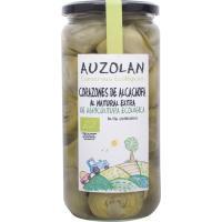 Alcachofas naturales ecológicas AUZOLAN, frasco 400 g
