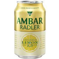 Cerveza AMBAR Radler, lata 33 cl