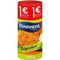 Galleta Digestive de manzana FONTANEDA, paquete 225 g