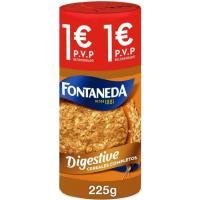 Galleta Digestive de cereales FONTANEDA, paquete 215 g