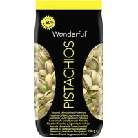 Pistachos con -50% de sal WONDERFUL, bolsa 250 g