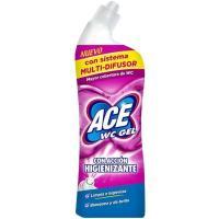Limpiador con lejía higiene para wc ACE, botella 700 ml