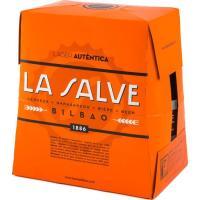 Cerveza Lager Auténtica LA SALVE Bilbao, pack 6x25 cl