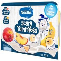 Iogolino cremoso de plátano-melocotón NESTLÉ, pack 6x60 g