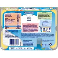 Yogolino cremoso de plátano-melocotón NESTLÉ, pack 6x60 g
